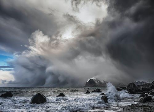 Foto stok gratis arktik, badai salju, hujan es, rendah kutub