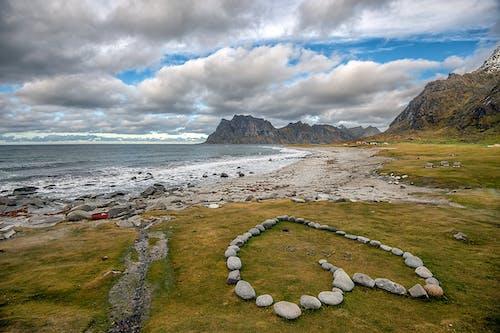 心, 浪漫, 海灘 的 免費圖庫相片