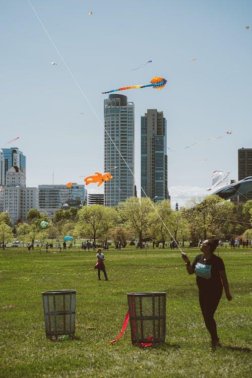 Immagine gratuita di aquilone, città, divertimento, parco
