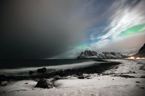 Foto stok gratis aurora borealis