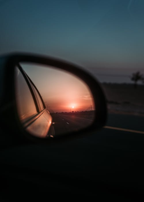 Free stock photo of golden hour, mirror, road, sunset