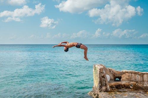 Imagine de stoc gratuită din albastru, apă, backflipping, cer