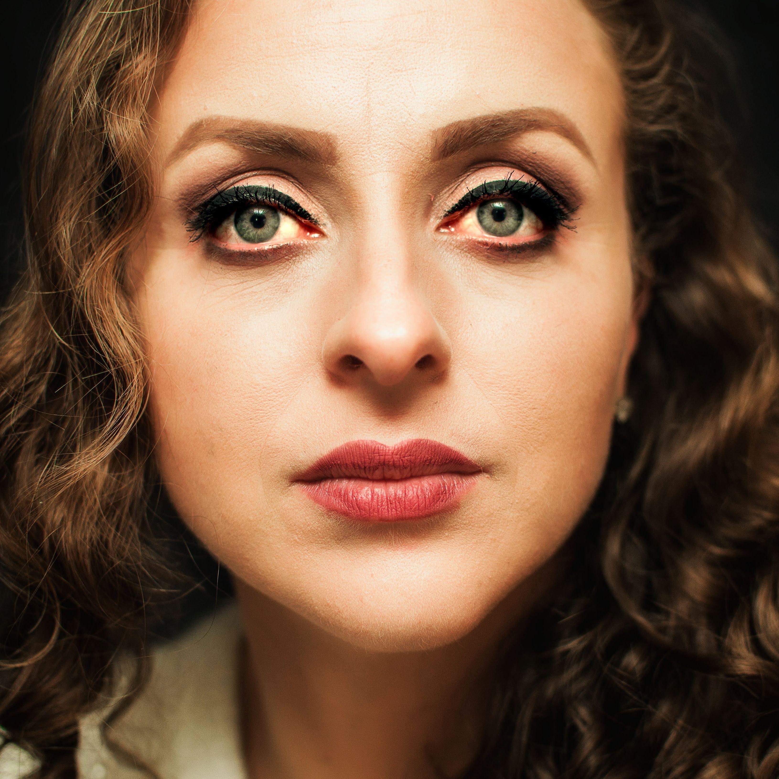 Close-Up Photo of Woman With Red Lipstick \u00b7 Free Stock Photo