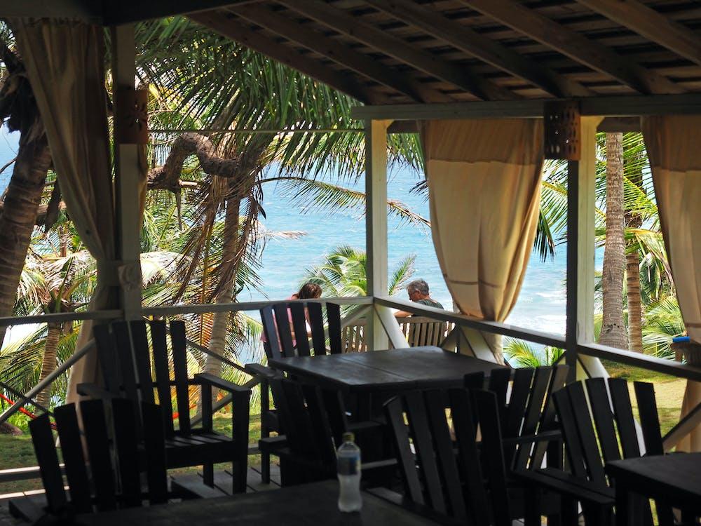afslapning, bord, Caribien