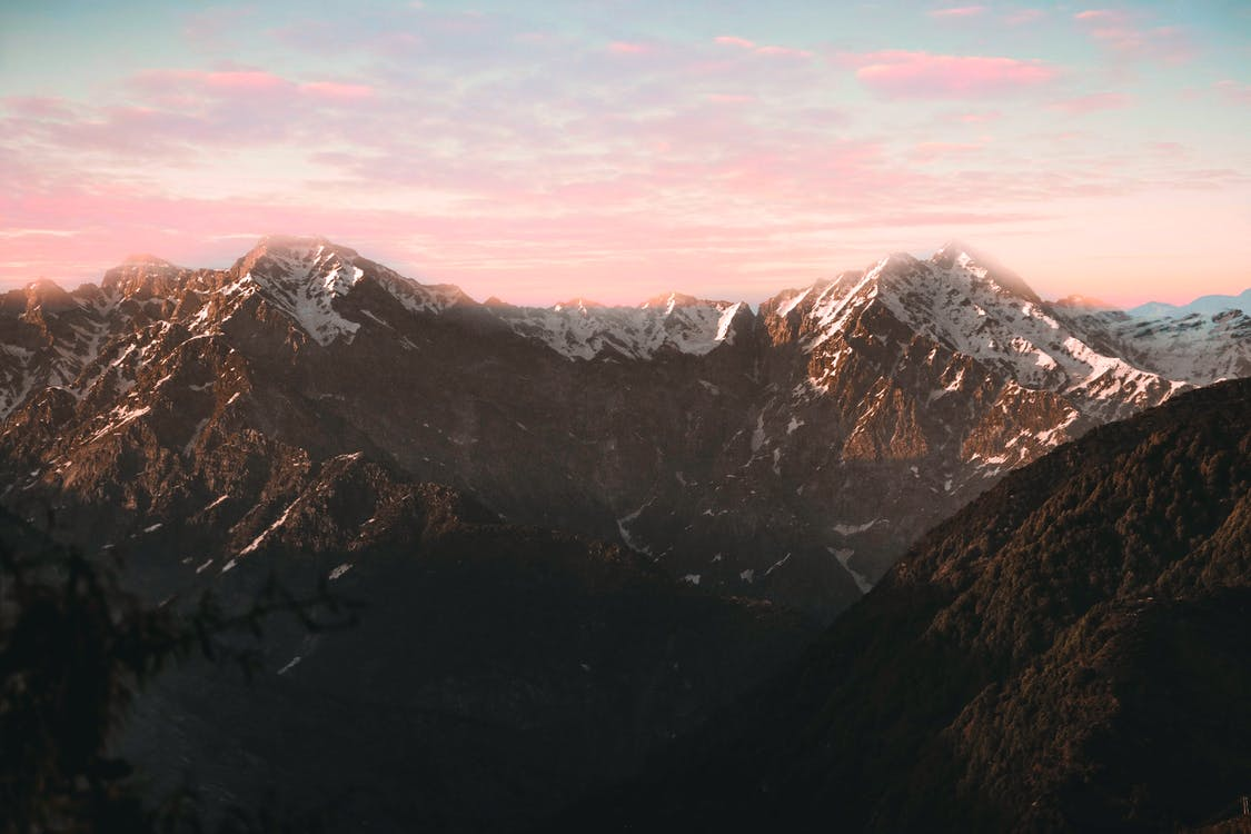 berg, fågelperspektiv, Flygfotografering