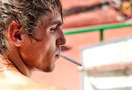 man, person, cigarette