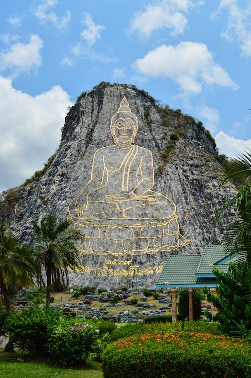 Kostenloses Stock Foto zu artsy, buddha, buddhismus, felsformation