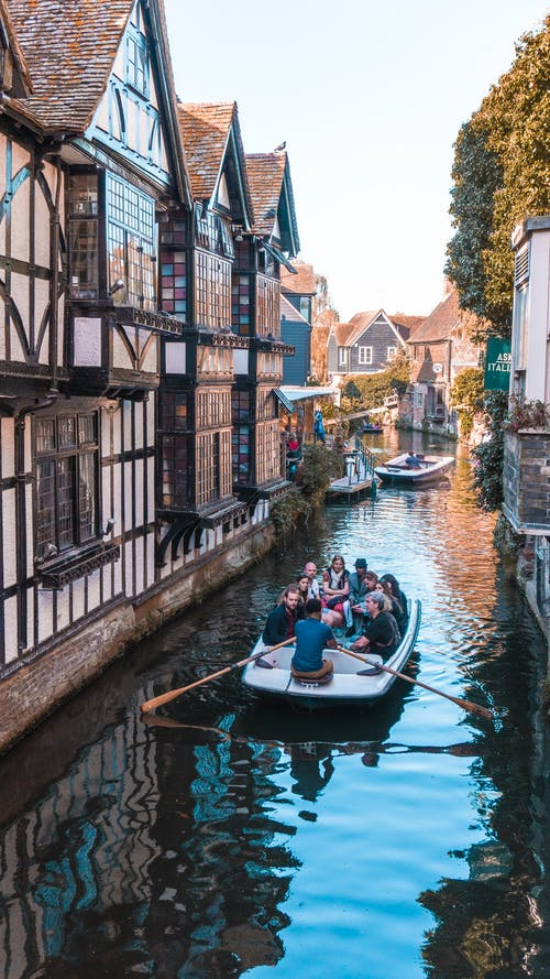 Foto profissional grátis de barco, bote, canal, canterbury