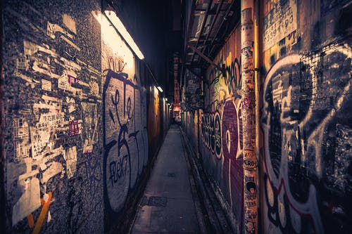 Foto stok gratis coretan, gang, Hongkong, sempit