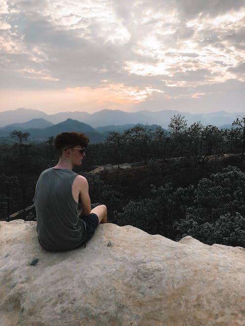 人, 冒險, 懸崖, 戶外 的 免費圖庫相片