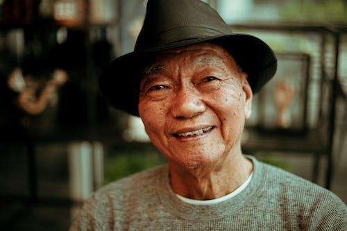 Het Oude Man Glimlachen