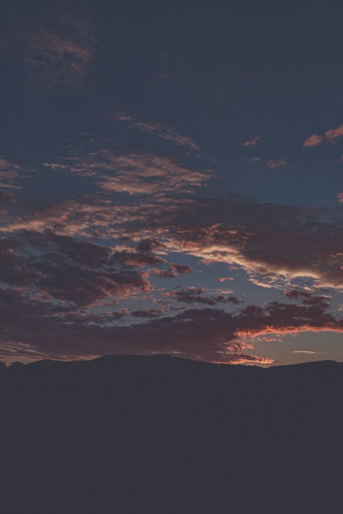 aften, bagbelyst, bjerg
