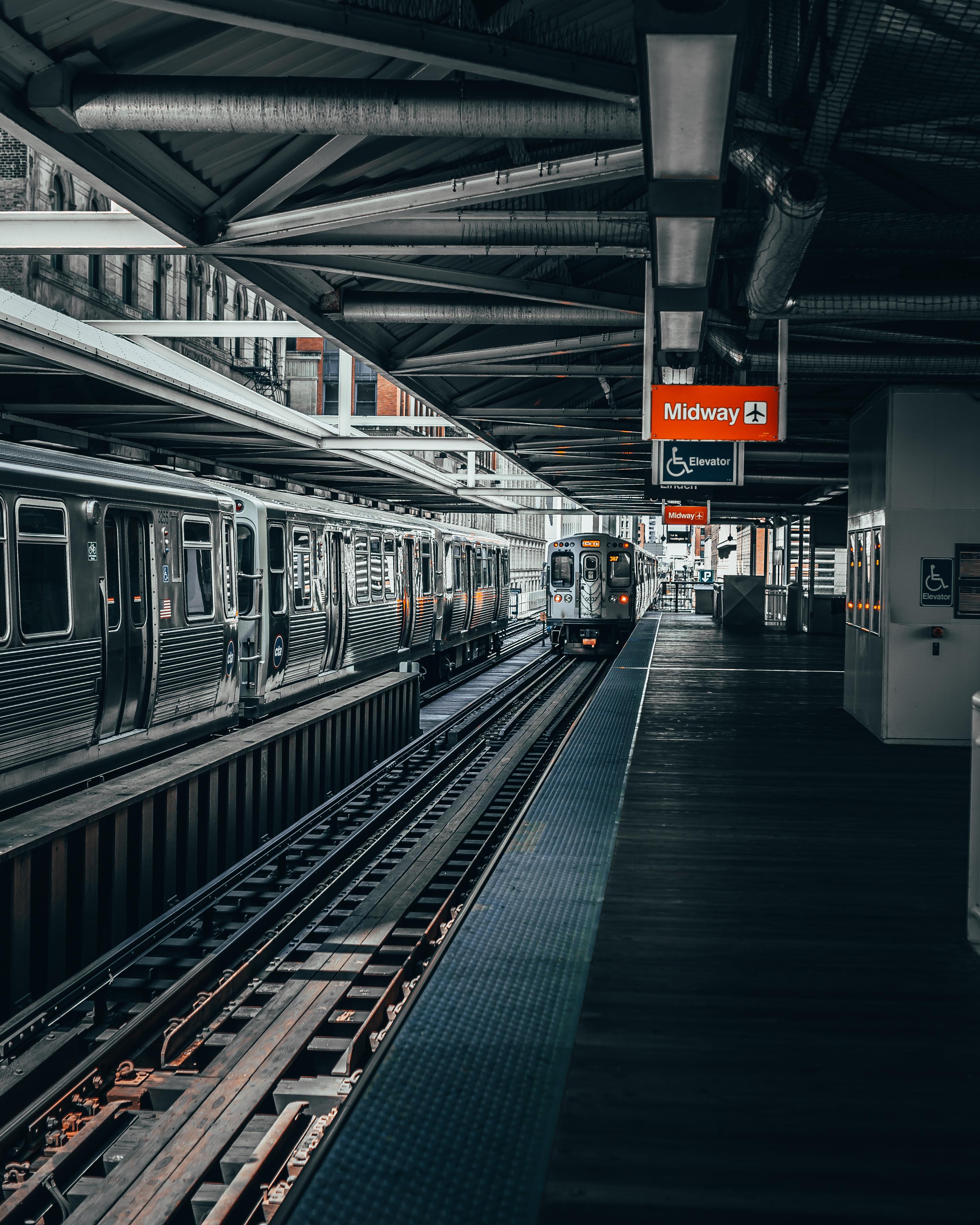 Photo of Train Near Railway Platform