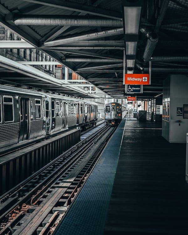 andana de tren, arquitectura, buit
