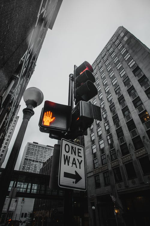 Low-Angle Photography of Traffic Lights