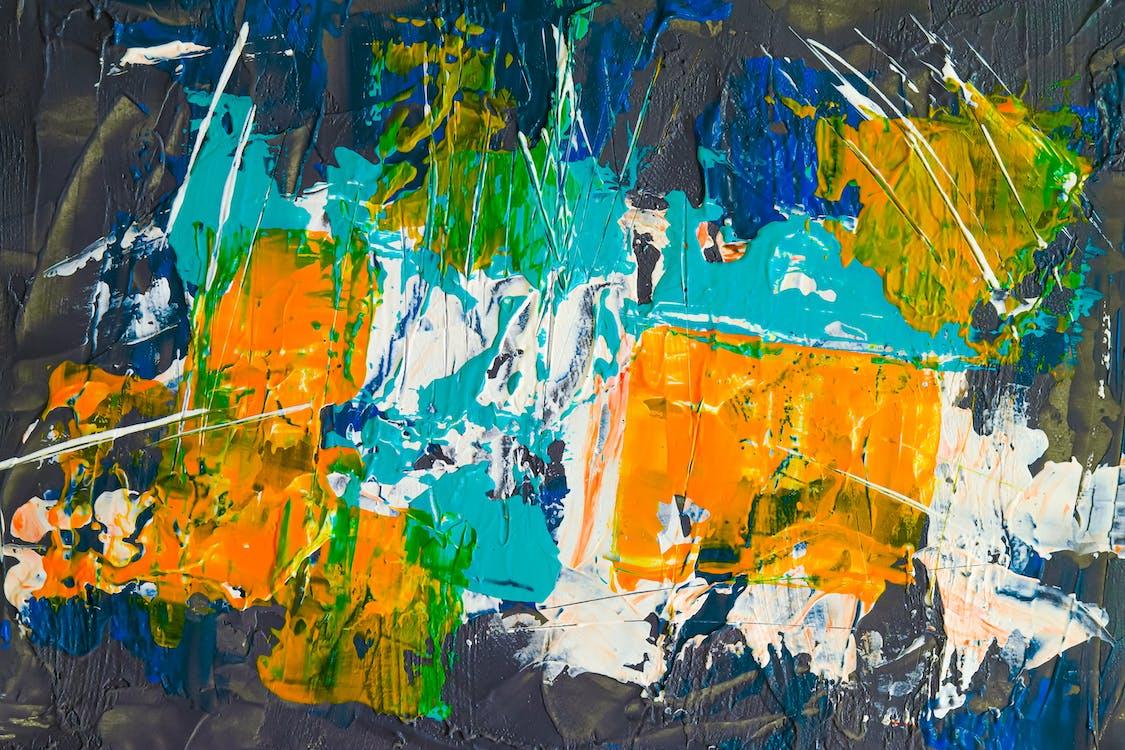 abstrait, acrylique, aquarelle