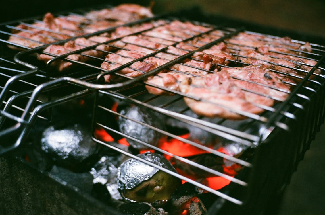 Meat in Grill