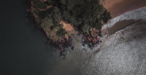 Foto profissional grátis de aerofotografia, água, ao ar livre, areia