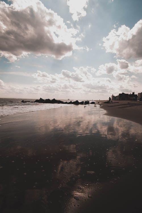 反射, 地平線, 岸邊, 水 的 免费素材照片