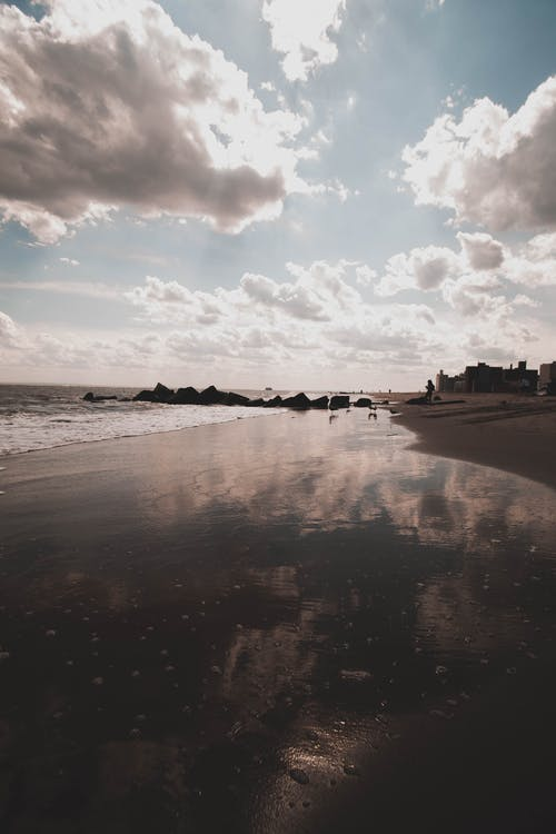 Foto stok gratis air, awan, horison, kosong