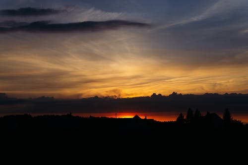cloudscape, シルエット, スカイスケープ, ダークの無料の写真素材