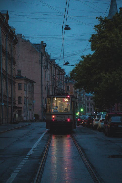 Free stock photo of after the rain, bus, clear sky, dark