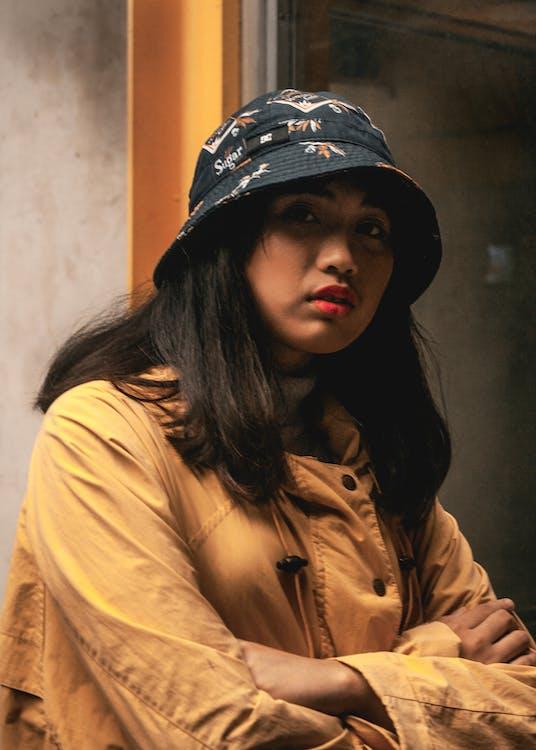 asiatisk kvinna, ha på sig, kvinna