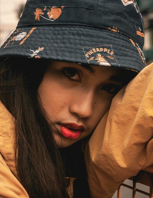 Woman Wearing Bucket Hat Portrait Photo