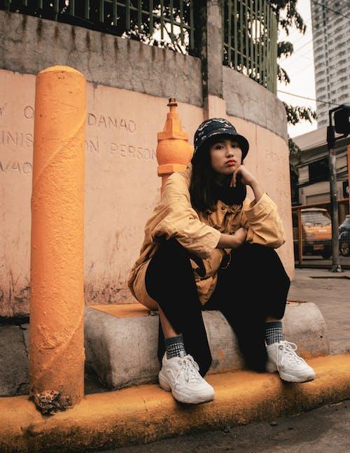 Free stock photo of cap, portrait, portrait photography, street