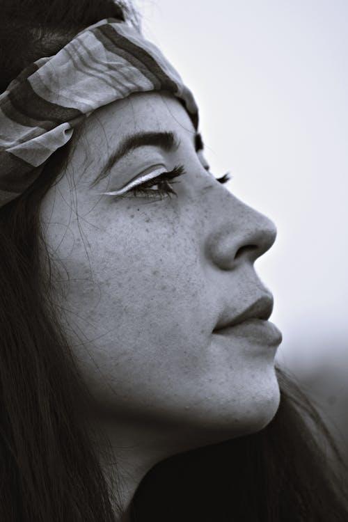 ヘア, モデル, モノクロ, 単色の無料の写真素材