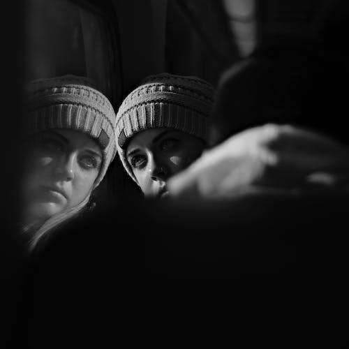 Immagine gratuita di bianco e nero, donna, faccia, persona