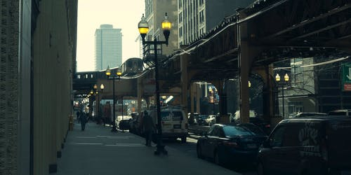 シカゴ, 列車, 日光, 通りの無料の写真素材
