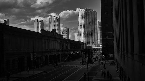 Free stock photo of b amp w, sky, street level