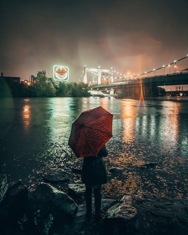 Solo Travel rainstorm