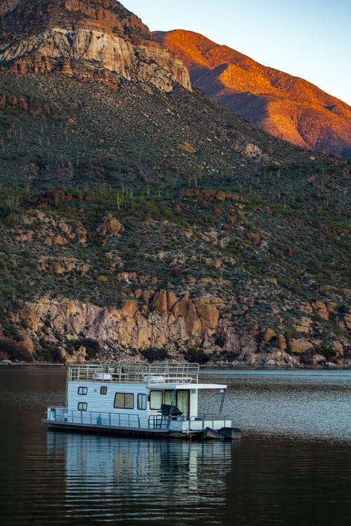 Základová fotografie zdarma na téma apache lake, arizona, člun, dům loď