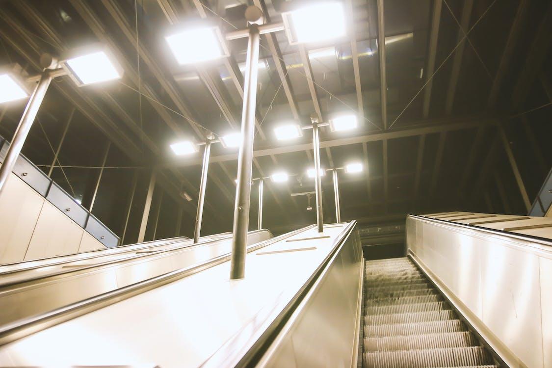 arquitetura, desocupado, escada rolante