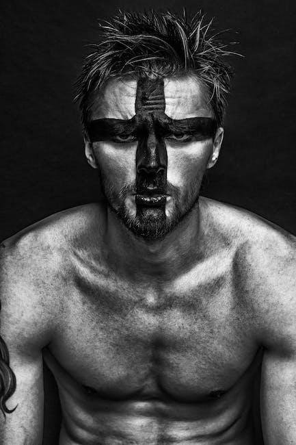 black-and-white, cross, guy