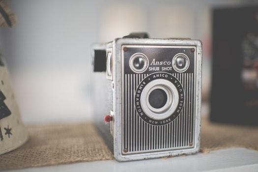 Free stock photo of camera, vintage, technology, lens