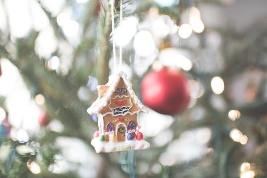 Free stock photo of christmas, celebration, macro, hanging