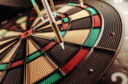 Dart Pins on Electric Dartboard