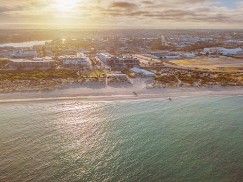 Fotobanka sbezplatnými fotkami na tému letecký záber, more, morský breh, oceán