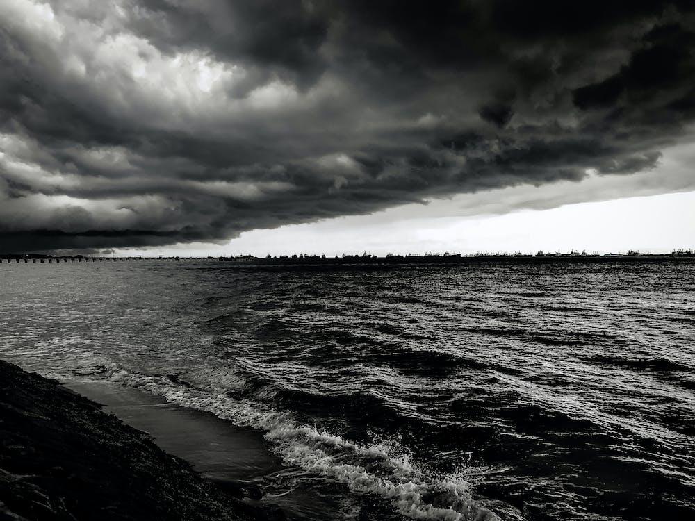 dramatisk, hav, havudsigt