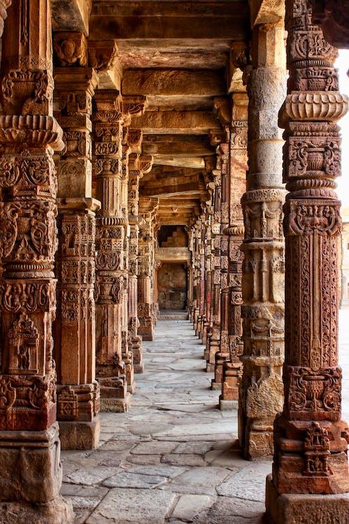Foto d'estoc gratuïta de arquitectura, columnes, edifici, marró