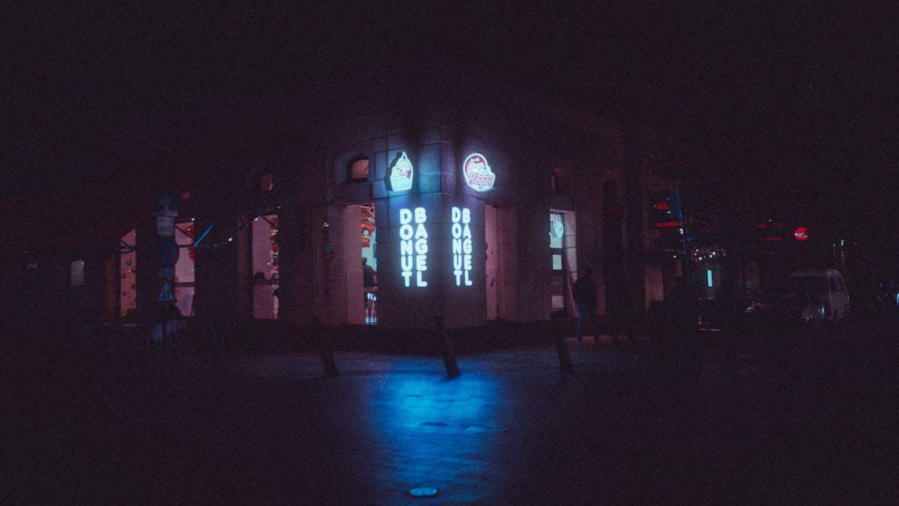 abstracte, art neon, Budapest