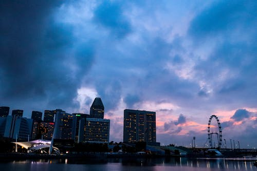 Free stock photo of city sky, pink sky, singapore, sky