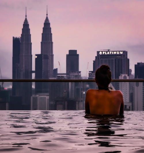 Fotobanka sbezplatnými fotkami na tému Kuala Lumpur, Malajzia, panoráma, Petronas Towers