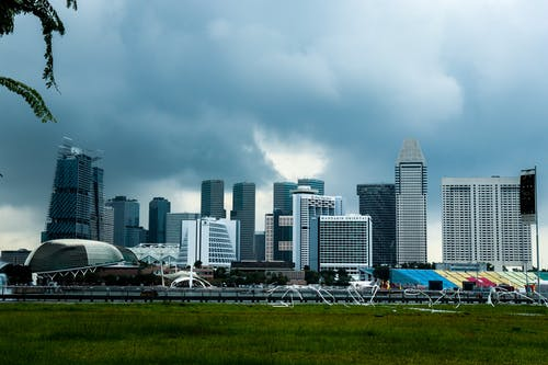 Fotobanka sbezplatnými fotkami na tému Marina Bay Sands, panoráma, Singapur
