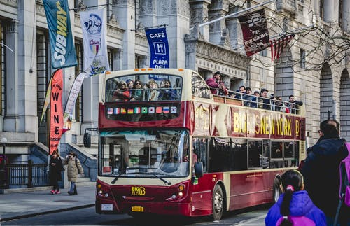 Kostenloses Stock Foto zu besichtigung, bus, fahrzeug, menschen
