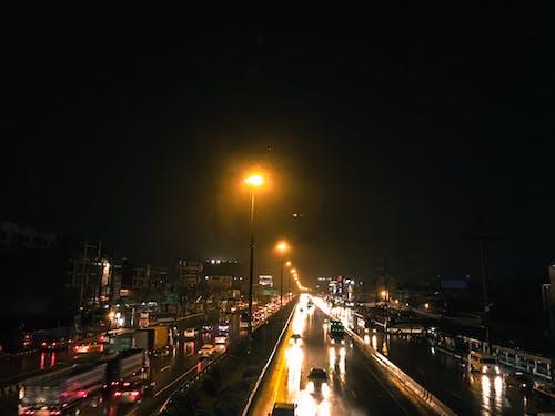 Foto profissional grátis de Bangkok, chovendo, luz noturna, Tailândia