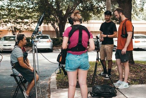 Foto d'estoc gratuïta de a l'aire lliure, al conjunt, arts de cambra, càmera